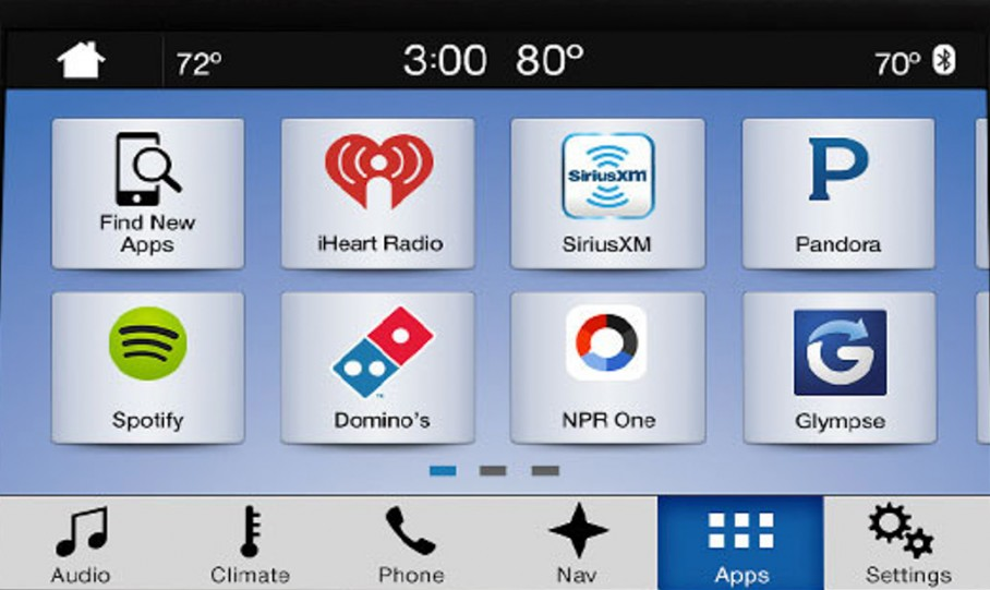 AppLink now automatically discovers smartphone apps including Spotify, Pandora, Stitcher, and displays their unique graphics and branding.