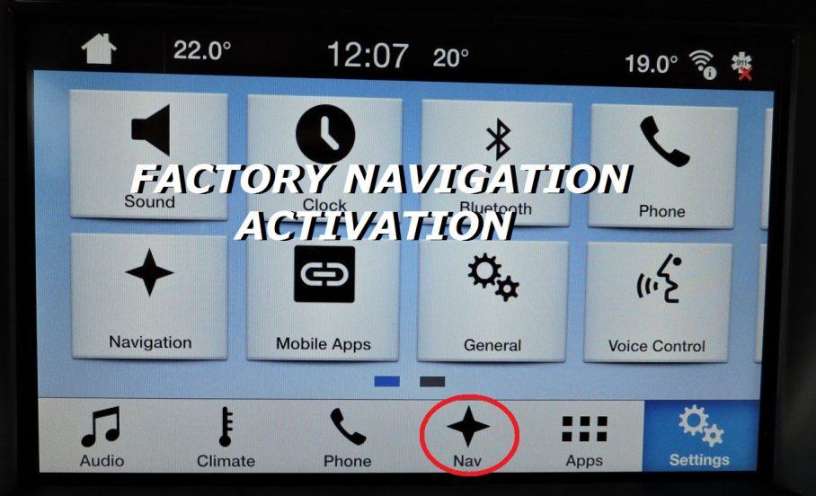 FACTORY NAVIGATION ACTIVATION SYNC 3